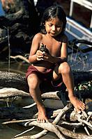 Waimiri-Atroari child. Rio Negro. Brazil
