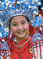 Girl in traditional costume. Shenzhen. Guangdong province. China