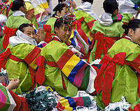 South korea. Traditional costumes.