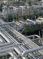 Chemical plant for plastic production