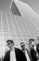 Group of Young Men in Sunglasses. NYC