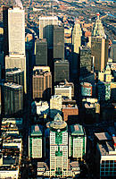 Aerial of downtown Toronto. Ontario. Canada