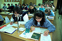 Chemistry class. Moscow. Russia