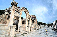 Temple of Hadrian. Ephesus. Turkey