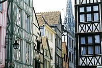 Rouen, historical area. Normandy. France