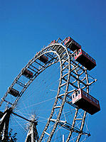 Big wheel. Prater amusement park. Vienna. Austria