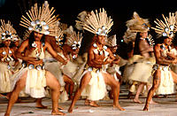 Folkloric dance. French Polynesia