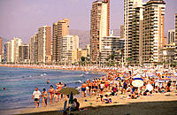 Beach. Benidorm. Alicante province. Spain