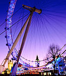 The London Eye, a giant ferris wheel. London. England