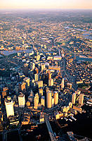 Aerial view, downtown, Boston, MA