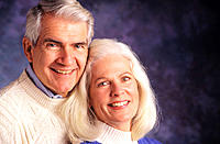 Close mature couple, portrait