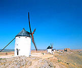 Windmills. Consuegra. Ciudad Real province. Spain