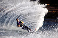 Water skiing, Columbia River. Oregon. USA