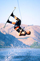 Wakeboarding. Columbia River. Washington. USA