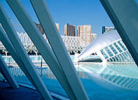 Hemisferic (planetarium and cinema). City of Arts and Sciences, by S. Calatrava. Valencia. Spain