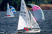Sailboat racing, 505 class. Oregon. USA
