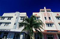 Art Deco district. Miami Beach. Florida. USA