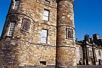 Facade of Palace of Holyroodhouse. Edinburgh. Scotland