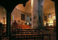 Interior of Romanesque church. Saint-Savin-sur-Gartempe. France