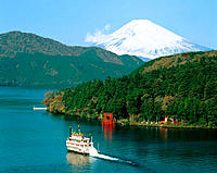 Ashino Lake and Mount Fuji. Hakone. Japan