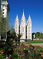 The Temple. Salt Lake City. Utah. USA