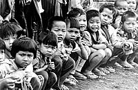 Children at refugee camp from Myanmar on the Thailand-Myanmar border