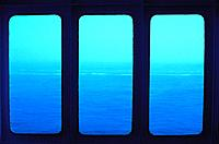 Strait of Dover through the ferry windows