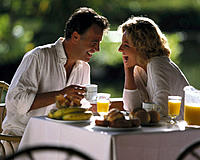 Couple, Breakfast, happy