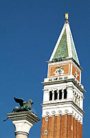 Campanile tower of St. Mark's. Venice. Italy