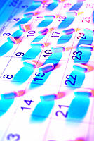 Pills, capsules on calendar