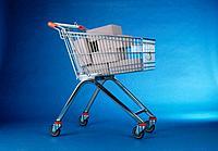 Einkaufswagen Karton gefüllt