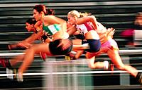 Women´s hurdling race. Sweden
