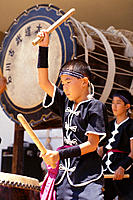 Japanese boys beating drums, Okinawan Festival C1871