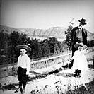 Werner Heisenberg as a young child (right) with his elder brother and his grandfather in Bavaria, Germany, around 1903. Heisenberg (1901-1976) was a f...