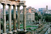 Roman Forum at dusk. Rome. Italy