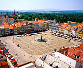 Square of King Otakar II. Cesk&#233; Budejovice. Czech Republic