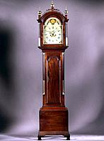 Clock, Arron Willard Diminutive Chippendale ca  1790 Antique Furniture