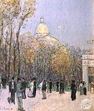 Boston Commons 1901Frederick Childe Hassam (1859-1935/American) Oil on Canvas David David Gallery, Philadelphia
