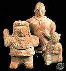 Mayan Clay Figurines c  700-1000 A D  Campeche, Mexico Pre-Columbian Collection of The Museum of Contemporary Art, Jacksonville, Florida