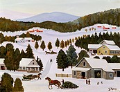 Christmas Trees Konstantin Rodko 1908_1995/Russian Oil on canvas