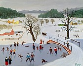 Winter Wonderland Konstantin Rodko 1908_1995/Russian