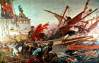 Lepanto´s Battle Juan Luna Novicio (1857-1900 Spanish)Senate´s Palace, Madrid, Spain