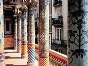 Gallery of Palau de la Música Catalana by Lluís Domènech i Montaner. Barcelona. Spain