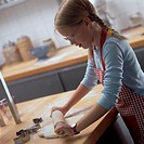 Girl baking biscuits (1)