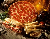 Take Out Food, Pizza and Sub, Breadsticks