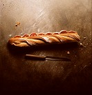 A Baguette Stuffed with Salami