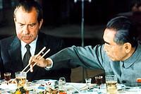President Richard Nixon and Premier Zhou Enlai China February 25, 1972