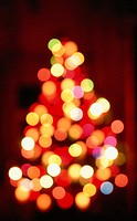 Christmas holiday abstract. Christmas tree lights