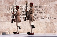 Guards (Evzones). Parade at Tomb of Unknown Warrior. Athens. Greece