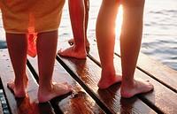 Legs on jetty